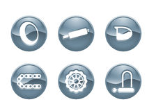 Moto Icons 2 Royalty Free Stock Photography
