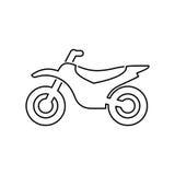 Moto Illustration Plate Simple De Vecteur Dicône De Motocyclette