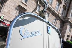 Moto italiano velho - VESPA Imagens de Stock