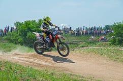 Moto jump Stock Photography