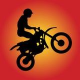 Moto-Kreuz-Treiber Lizenzfreies Stockbild