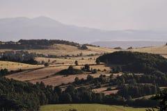 Moto - montagnes centrales de la Bohême Photo libre de droits