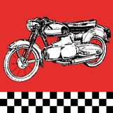Moto motocycle retro vintage classic vector Stock Photos