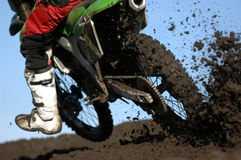 Moto mud 05 stock photography