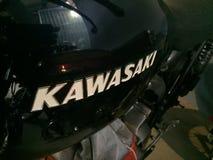Moto noire de Kawasaki photographie stock