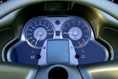 Moto panel. Display instrument motorcycle royalty free stock photo
