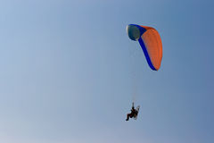 Moto paraglider. Low view of a moto paraglider Stock Photos