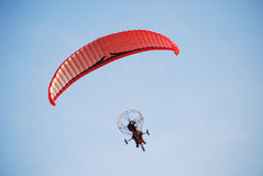 Moto paragliding Stock Photo