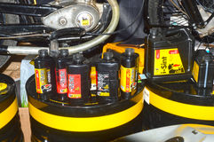 Moto Park 2015 products known firm emi. Engine oil, etc. Motor show Stock Image