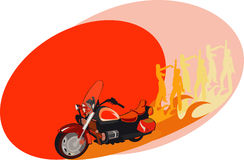 Moto party. Vector image for motorcycle party posters and cards vector illustration