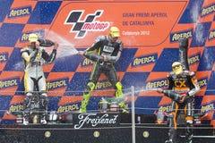 Moto2 podium Royalty-vrije Stock Fotografie
