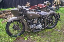 Moto polonaise Sokol 1000 de classique de 1936 photo libre de droits