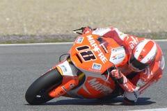 Moto2 prov på den Jerez löparbanan - dag 2. Royaltyfri Fotografi
