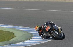 Moto2 prov på den Jerez löparbanan - dag 2. Royaltyfria Bilder