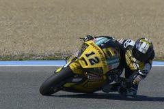 Moto2 prov på den Jerez löparbanan - dag 2. Arkivfoton