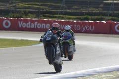 Moto2 prueba en la pista de Jerez - día 2. Fotos de archivo