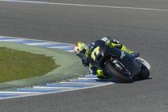 Moto2 prueba en la pista de Jerez - día 2. Fotos de archivo libres de regalías