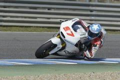 Moto2 prueba en la pista de Jerez - día 2. Fotografía de archivo libre de regalías
