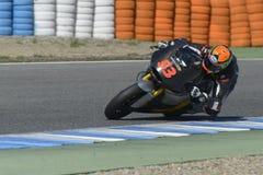 Moto2 prueba en la pista de Jerez - día 2. Foto de archivo libre de regalías
