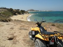 Moto quad. In the beach Royalty Free Stock Photography
