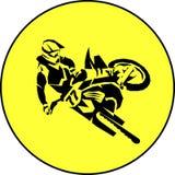 Moto racer extreme. Motocross fmx biker silhouette sticker design Vector illustration Royalty Free Stock Photography