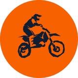 Moto racer extreme. Motocross fmx biker silhouette sticker design Vector illustration Stock Image
