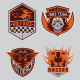 moto racing emblem set and design elements Royalty Free Stock Photo