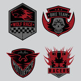 moto racing emblem set and design elements Stock Photo