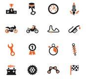 moto racing icon set Stock Photography