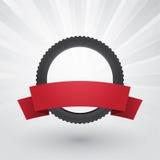 Moto-Reifen beschriftet stock abbildung