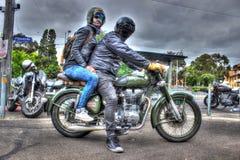 Moto royale construite anglaise classique d'Enfield Photo libre de droits