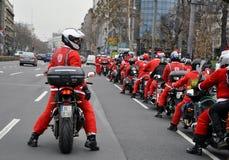 Moto Santa Claus Fotos de archivo libres de regalías