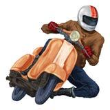 Moto sparkcykel Arkivbilder