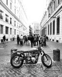 Moto. Street rome Italia Italy Roma Stock Photos