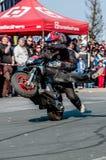 Moto stunt-riding Stock Images