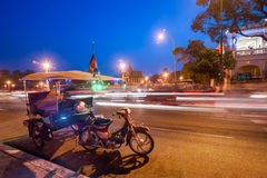 Moto taxi at asian city. Phnom Penh, Cambodia Royalty Free Stock Photo