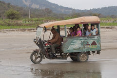 Moto Taxi on Beach Royalty Free Stock Photography