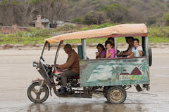Moto Taxi on Beach Stock Images