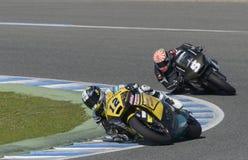 Moto2 test bij Jerez-renbaan - Dag 2. Stock Foto's