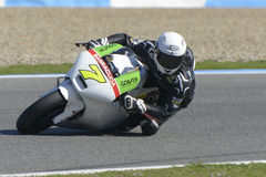 Moto2 Test an Jerez-Rennbahn - Tag 2. Stockfotos
