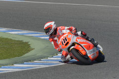 Moto2 teste na pista de Jerez - dia 2. Fotos de Stock