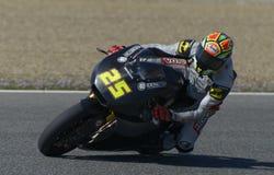 Moto2 teste na pista de Jerez - dia 2. Imagens de Stock