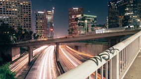 Moto Timelapse dell'orizzonte di Los Angeles stock footage