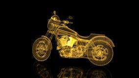 Moto tournante Fil-cadre brillant de maille Brillez la formation de la moto modèle Mouvement de bouclage animé illustration libre de droits