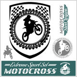 Moto Track Logos and bages Royalty Free Stock Image