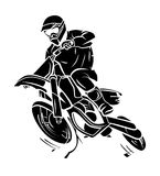 Moto Trail royalty free illustration