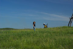 Moto travel Royalty Free Stock Photography