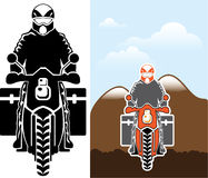 Moto Travel vector Royalty Free Stock Photography