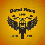 Moto Wings Poster Stock Image