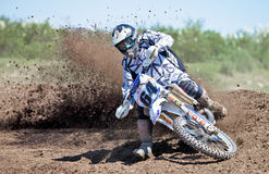 Moto-X dirt cloud Royalty Free Stock Photos